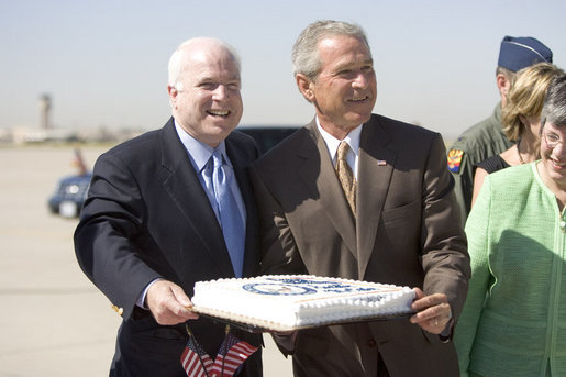 McCain, Bush Katrina B-Day