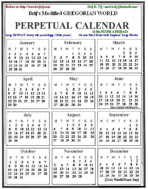 Modified Gregorian Calendar - Calendar Wiki