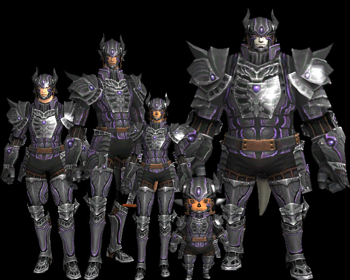 All races in full Abyss Armor.