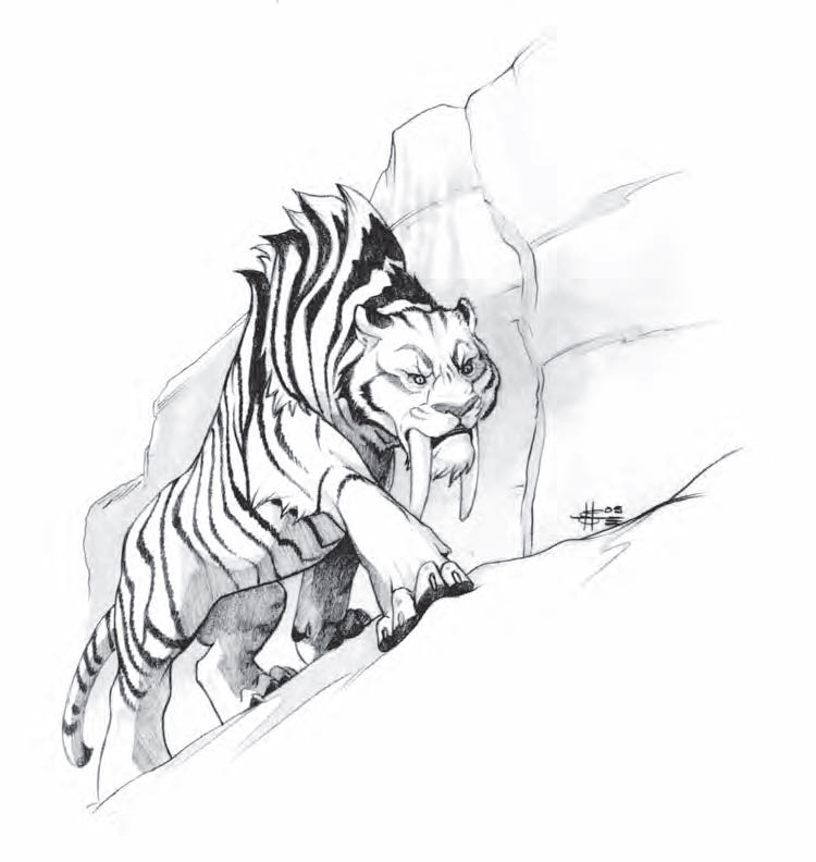 sabertooth cat coloring pages - photo#32
