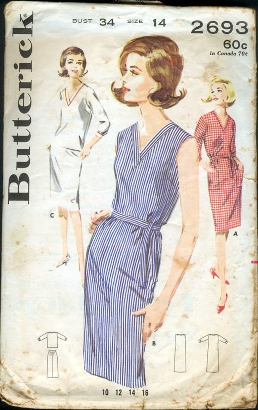 butterick 2693 vintage sewing patterns
