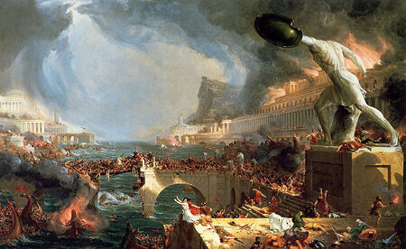 Cole Thomas The Course of Empire Destruction 1836