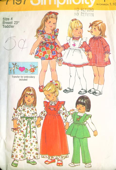 Simplicity 7197 Vintage Sewing Patterns