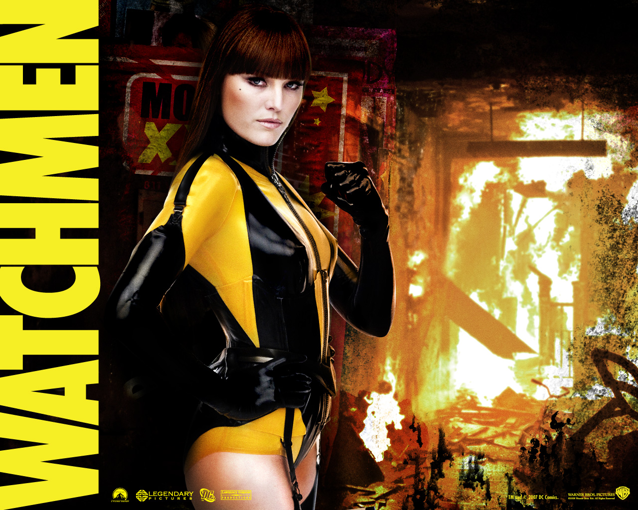 Image - Silk Spectre Wallpaper.jpg - Watchmen Wiki - the ... Watchmen Characters Silk Spectre