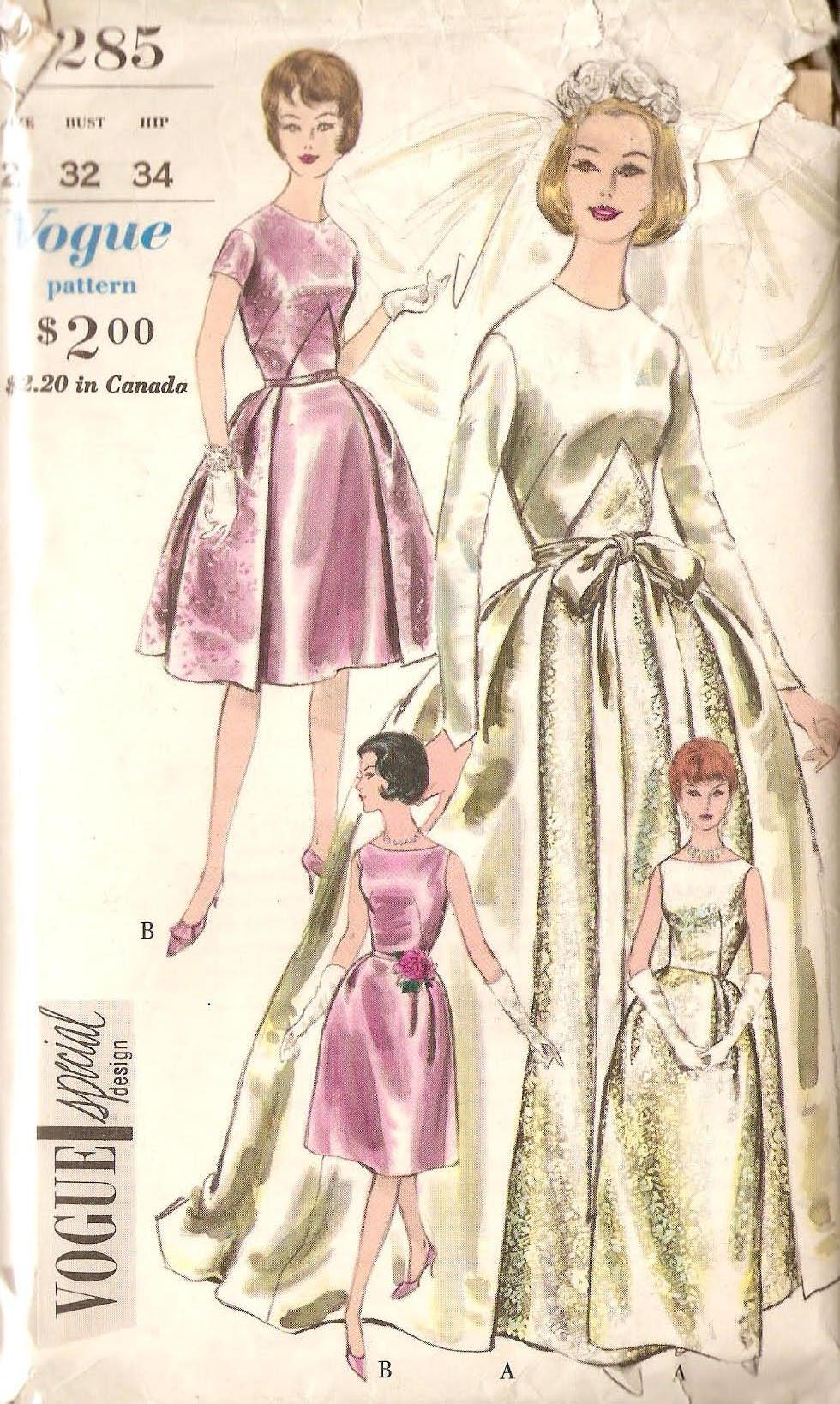 Vogue 4285 Vintage Sewing Patterns