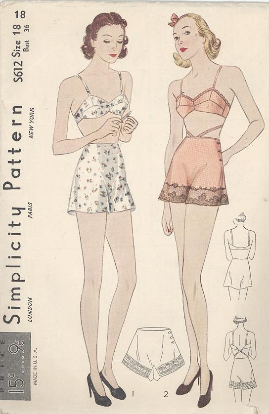 Simplicity s612 vintage sewing patterns