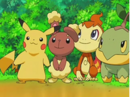 EP544 Pikachu, Buneary, Chimchar y Turtwig.png