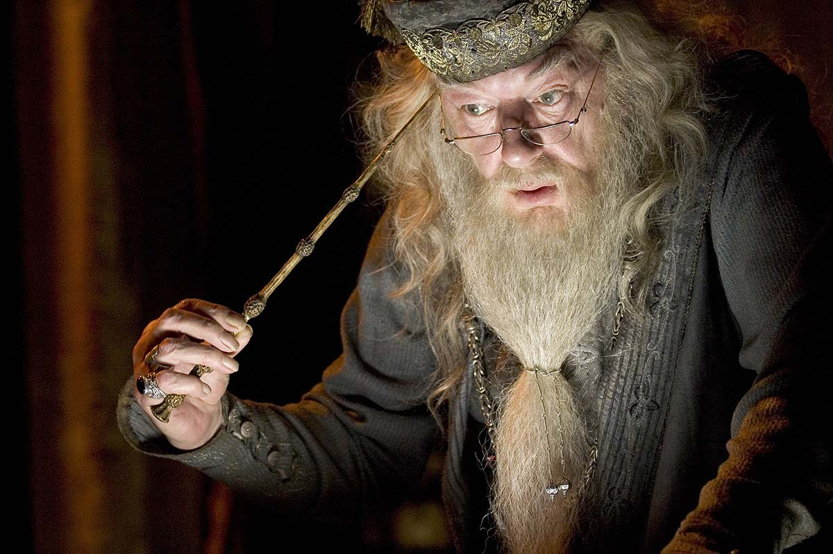 What do you see in the mirror professor dumbledore funny for Dumbledore with wand