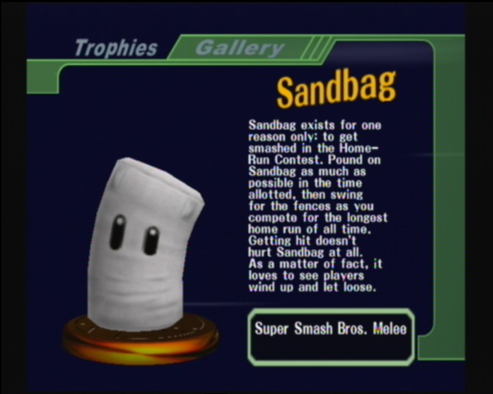Sandbag Smashpedia The Super Smash Bros Wiki