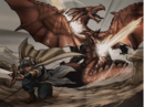 Marth slaying a dragon.png