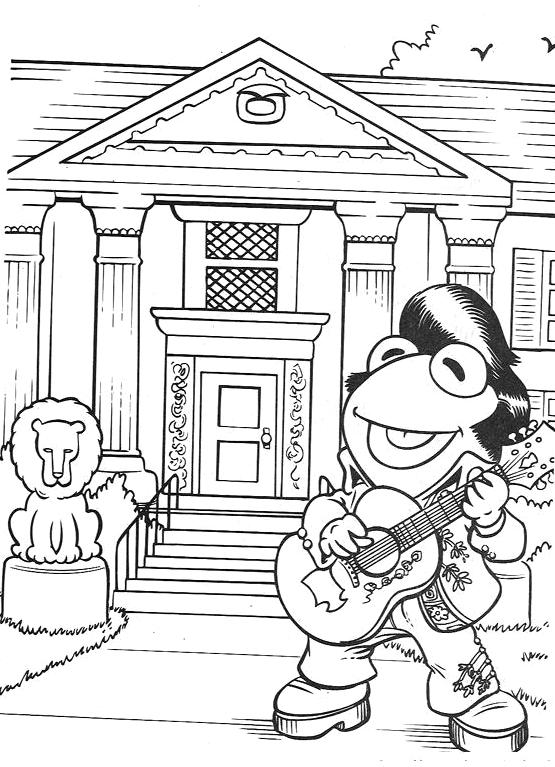 Elvis presley muppet wiki for Elvis coloring pages