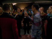 Toast auf Captain Sisko