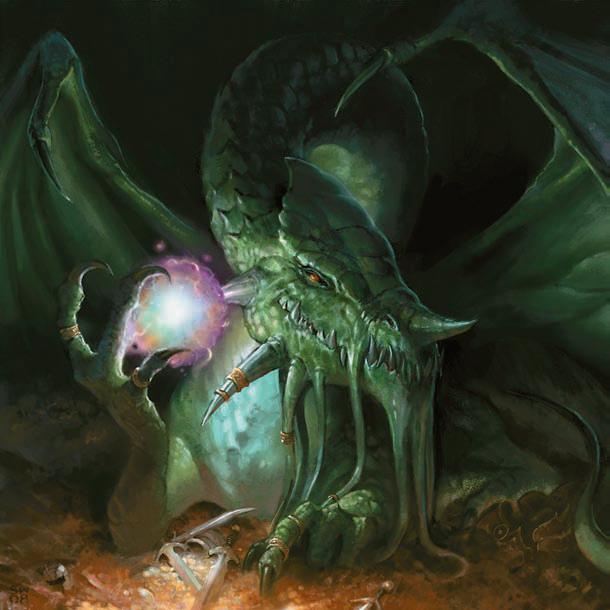 Green Dragon (D... Forgotten Realms Art