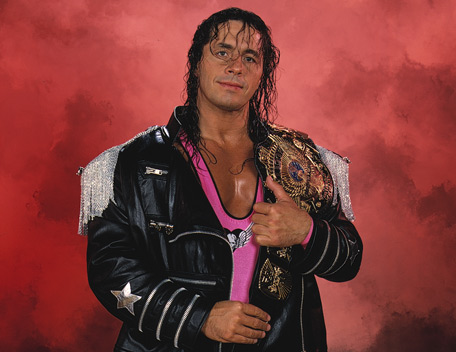 The 65-year old son of father Stu Hart and mother Helen Hart, 183 cm tall Bret Hart in 2018 photo