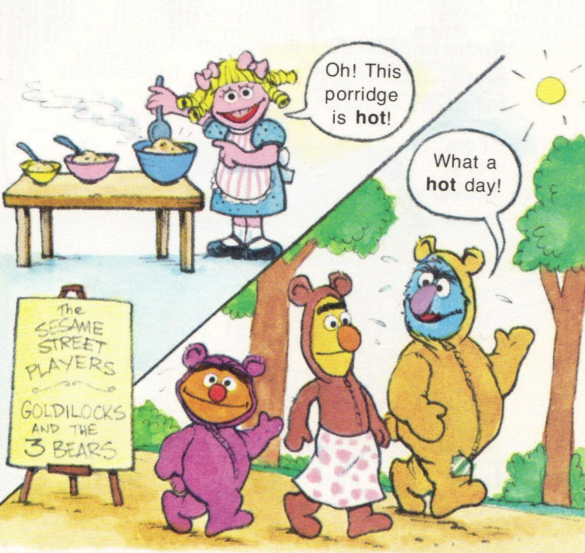 ... Sesame Street Players production of Goldilocks and the Three Bears