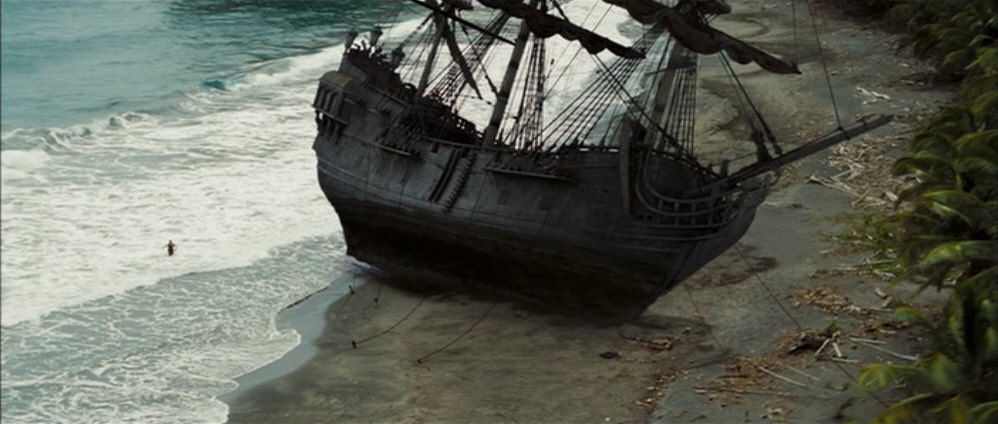 The black pearl ran aground on isla de pelegostos