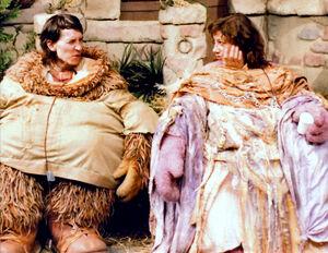 Frank Meschkuleit und Tish Leeper in Junior Gorg bzw. Ma Gorg. (Bild: http://muppet.wikia.com)