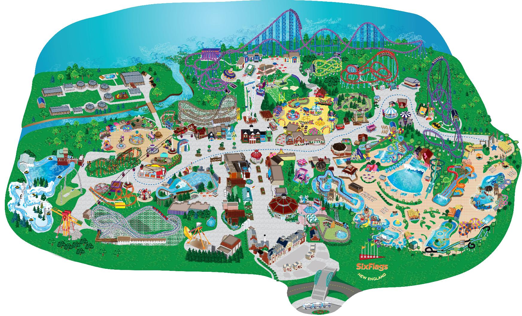 Six Flags New England Coasterpedia The Roller Coaster Wiki
