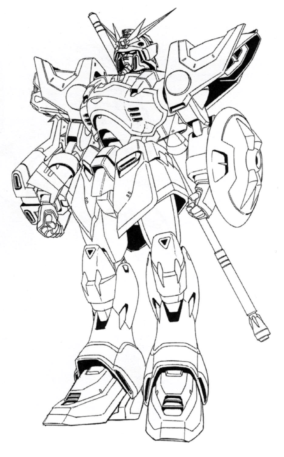 Image xxxg 01s gundam shenlong front view for Gundam wing coloring pages