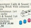 5033 Light and Sound 1 x 4 Lighting Brick and 4 Colour Globes