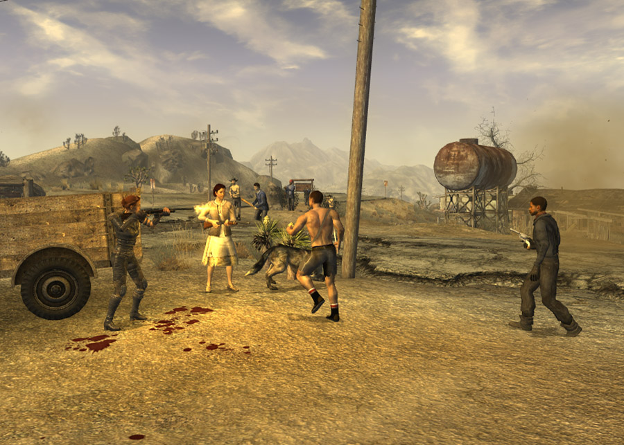 Ghost town gunfight fallout wiki wikia