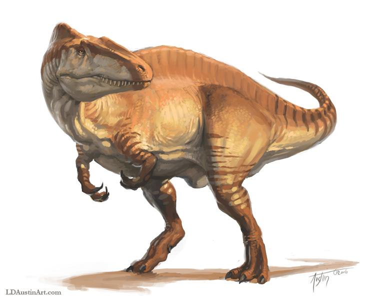 Dino Mystère ! Acrocanthosaurus_skin