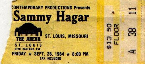 image sammy hagar ticket 9 28 1984 sammy hagar the checkerdome st ticket stub wiki. Black Bedroom Furniture Sets. Home Design Ideas