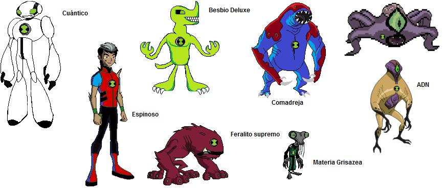 Ben 10 aliens nombres - Imagui