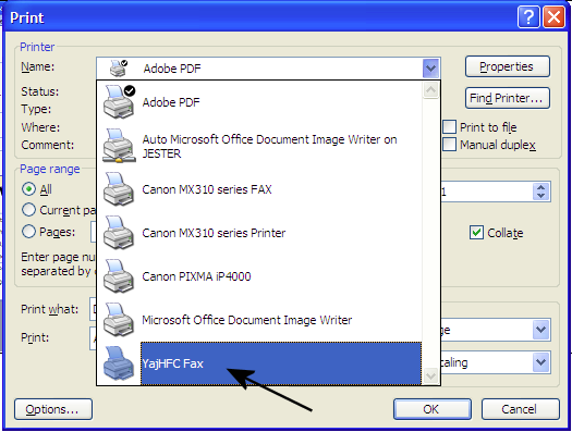 how to send fax from pc