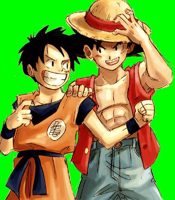 6388 Render Luffy Et Goku.png