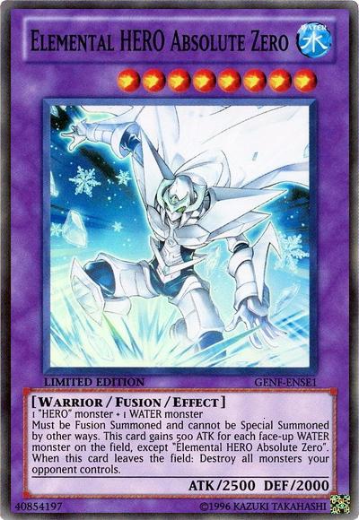 Naito's Articles: Elemental HERO Deck Guide ElementalHEROAbsoluteZero-GENF-EN-SR-LE