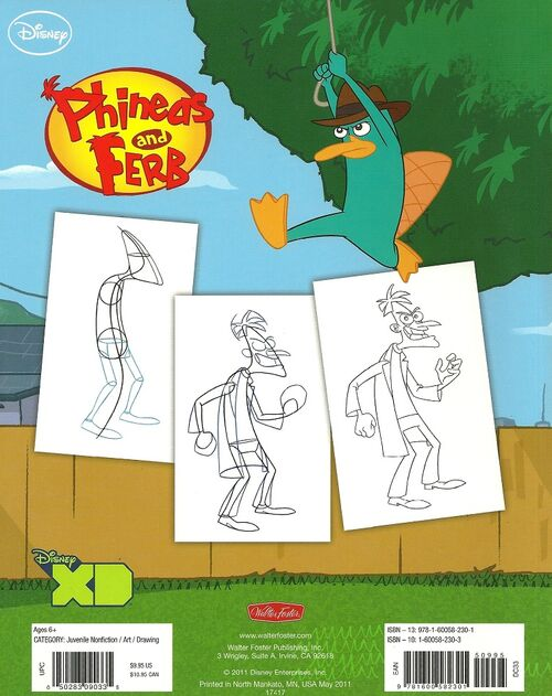 how to draw cartoon characters phineas and ferb