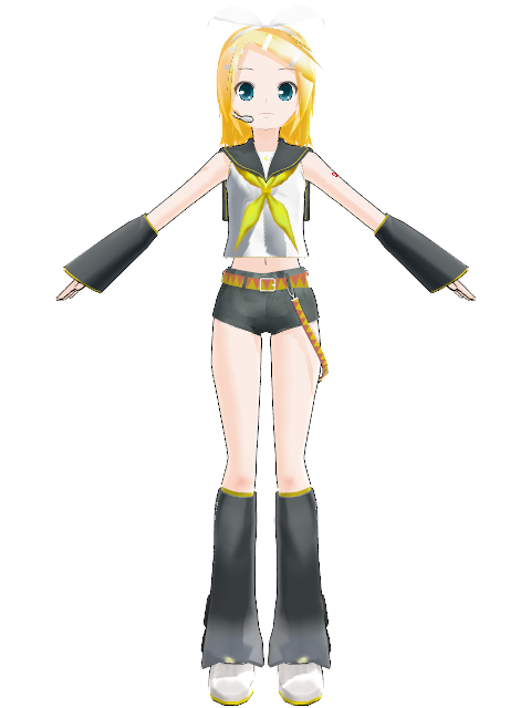 Rin Kagamine Outfit Rin Kagamine Model Mmd