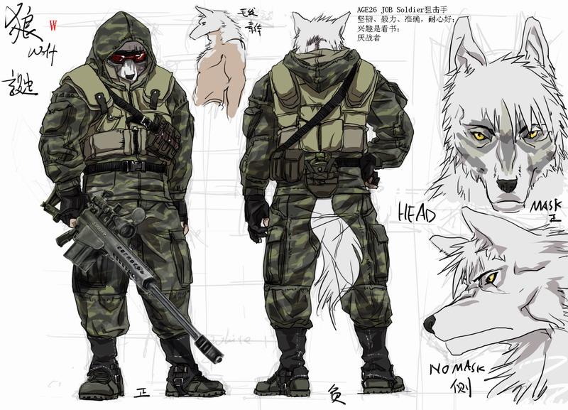 Anthro Wolf Soldier Anthro Wolf Sold