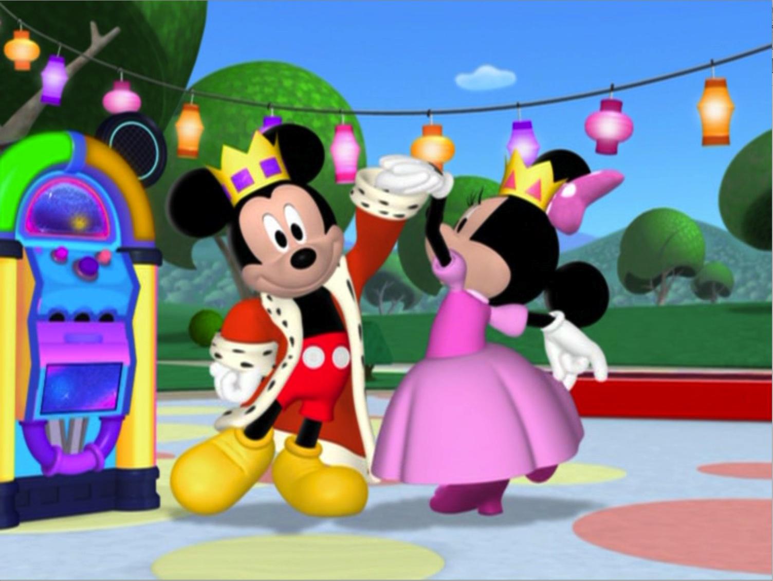 Image minniesmasquerade prince mickey and princess disneywiki - Princesse minnie ...