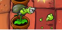 Gatling Pea Plants Vs.zombies