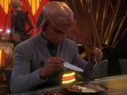 Rom isst sein Frühstück