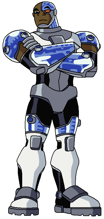 Cyborg in the animated series, Teen Titans Justice League Unlimited Cyborg
