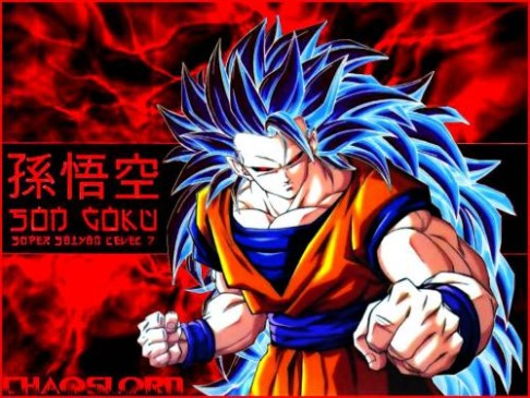 spoilers pic of the new super saiyan form spoiler for