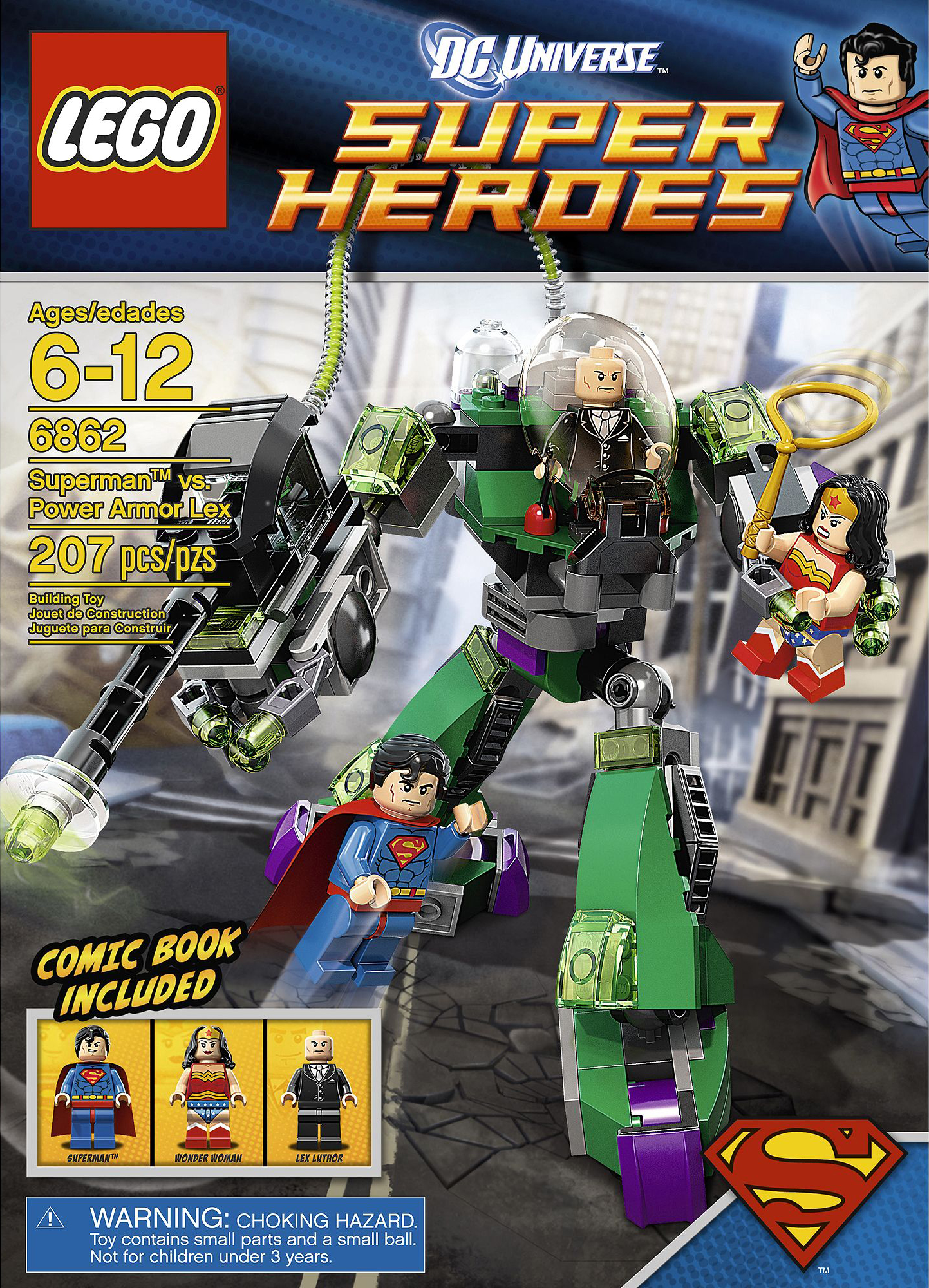 Pin lego 60032 city the lego summer wave in official images on - Lego Dc Superman Vs Power Armor Lex 6862 Retiring Soon
