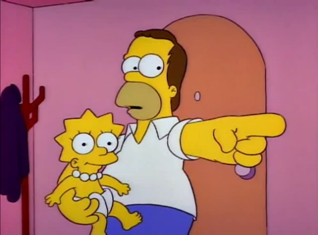 Homer holding baby lisa - Homer simpson and bart simpson ...