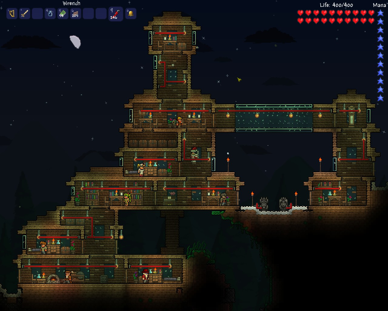 Image Terraria Wired Housejpg Wiki