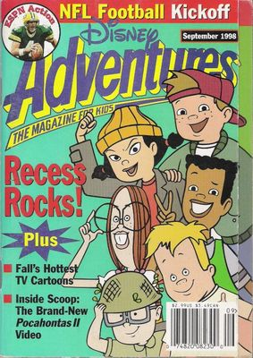 Disney Adventures Magazine for Kids Aug 1993 A Really Wild, Wild West Vol 3 No.1