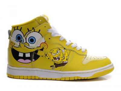 Spongebob High Top Girls Shoes
