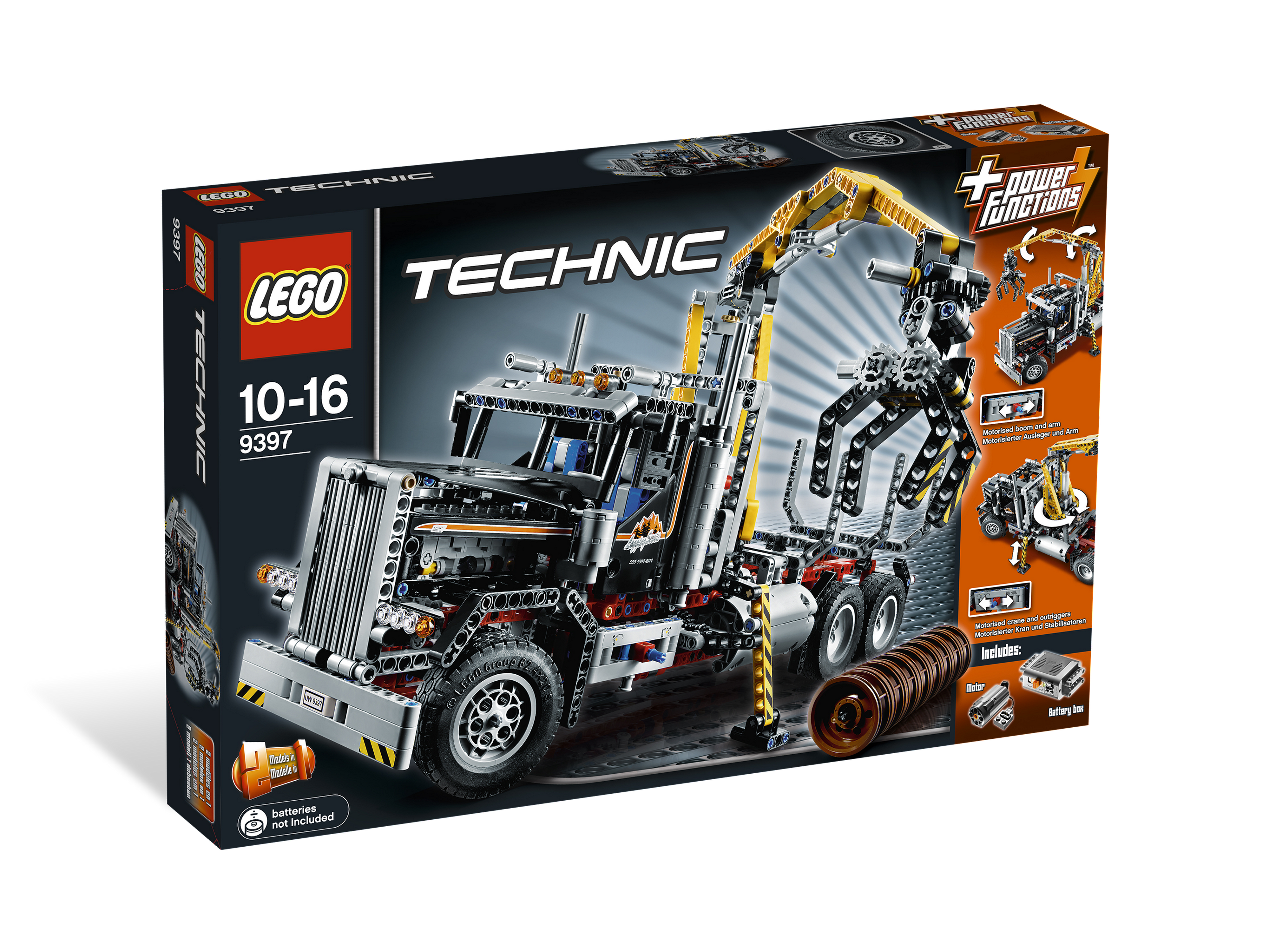 Lego Technic Building Instructions Logging Truck 9397