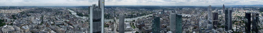 Panorama Frankfurt vom Maintower
