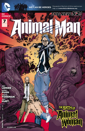 Cover for Animal Man #7 (2012)