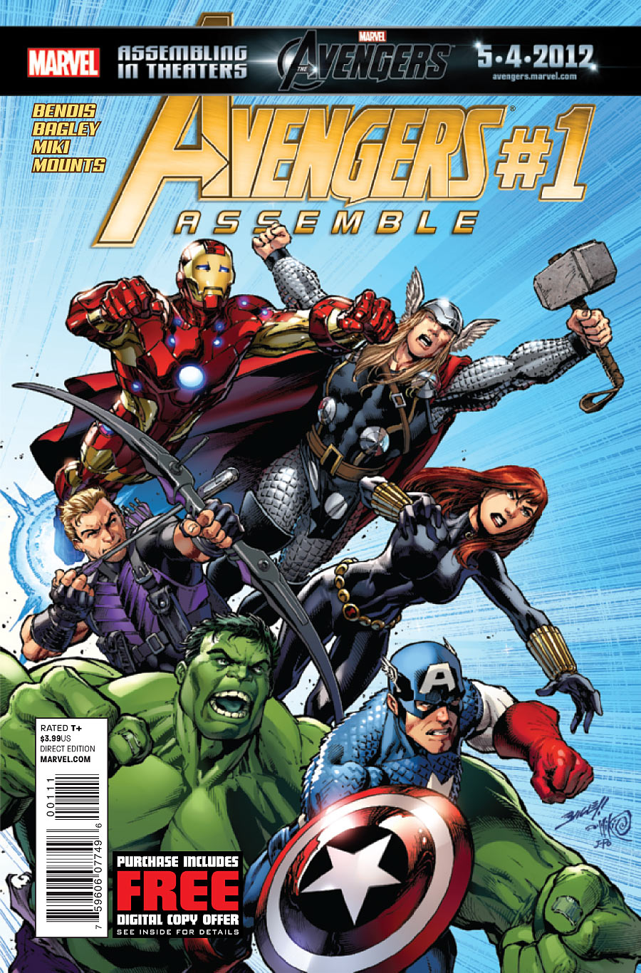 avengers assemble vol 2 1 marvel comics database. Black Bedroom Furniture Sets. Home Design Ideas