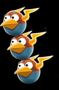 blue angry bird star wars