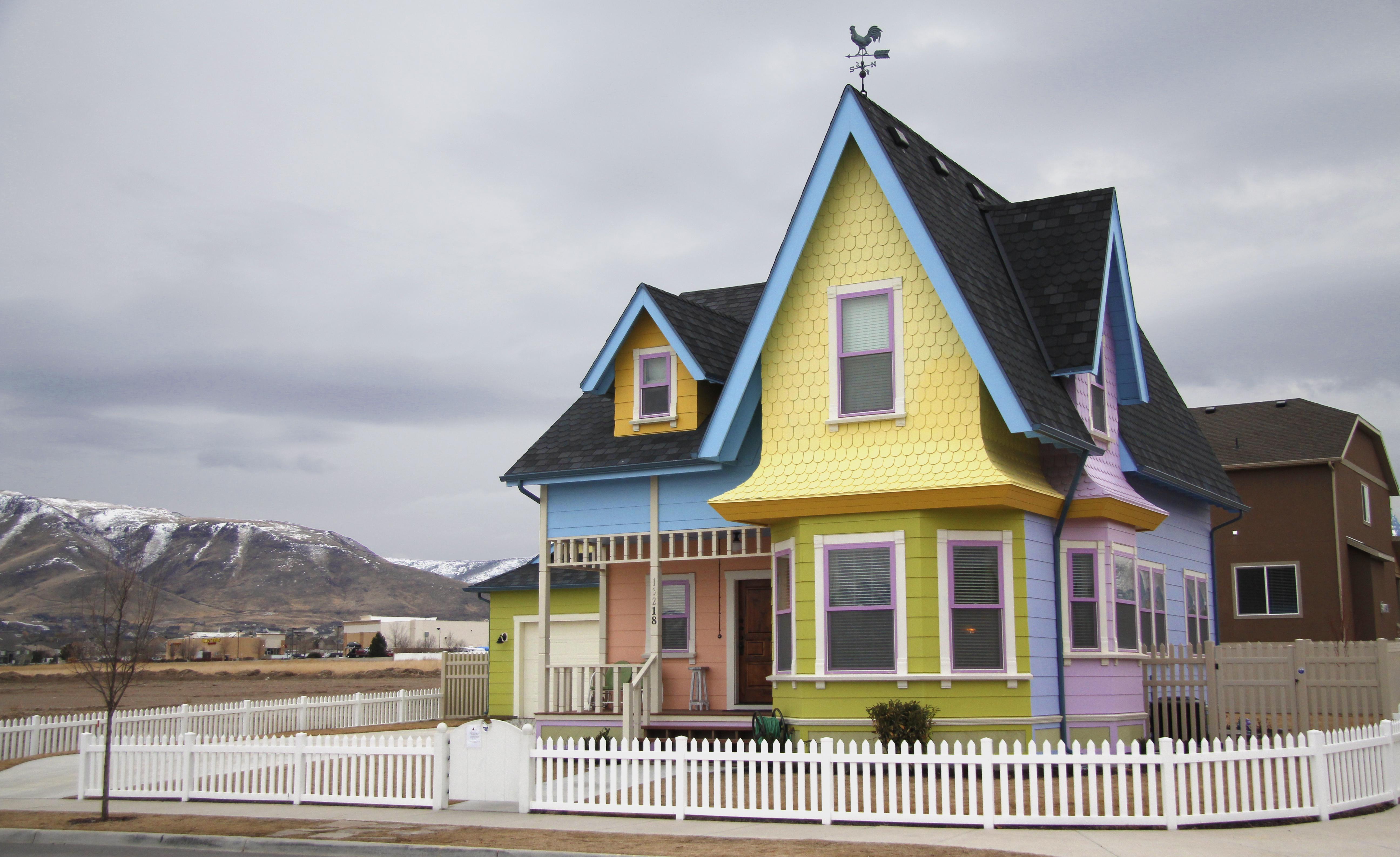 Up house in herriman utah pixar wiki disney pixar for Utah house